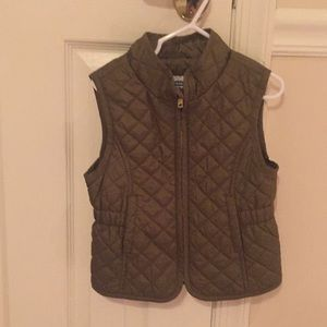 Olive colored girl's vest